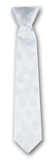 WHITE CHALICE BROCADE TIE FOR
