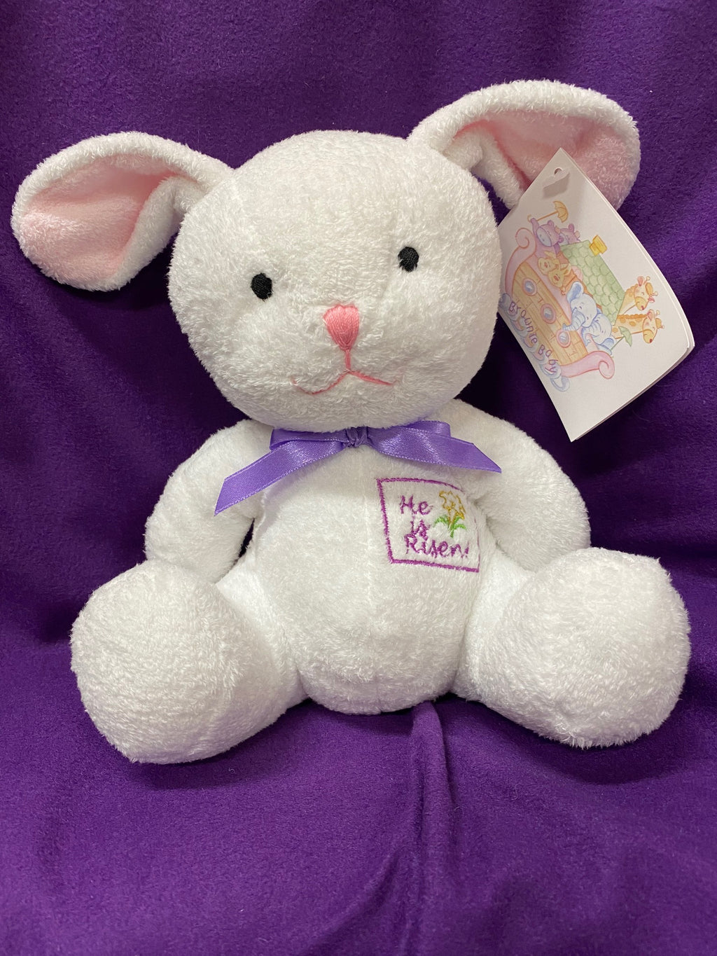 PLUSH HE IS RISEN BUNNY RABBIT