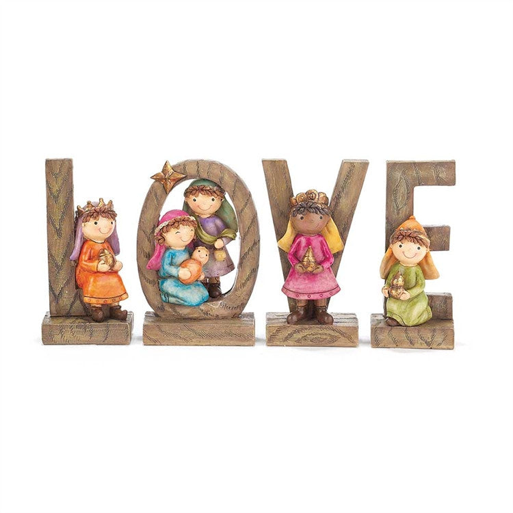4PC LOVE NATIVITY FOR KIDS