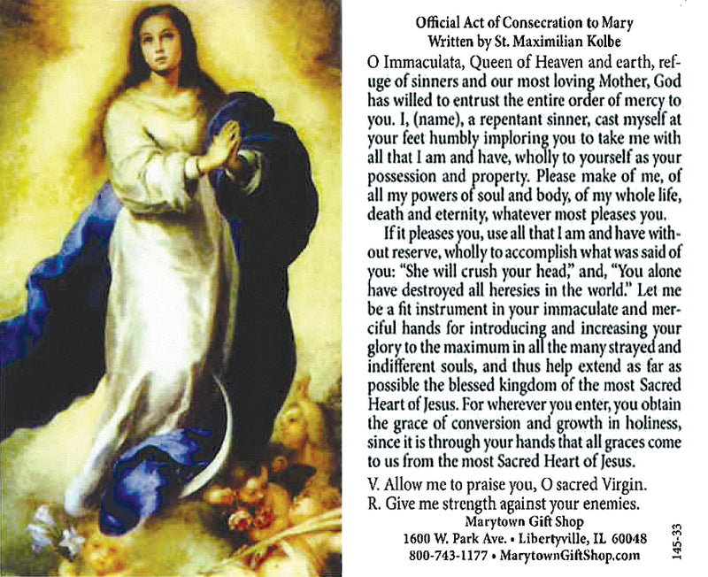 ACT OF CONSECRATION PRAYER CRD