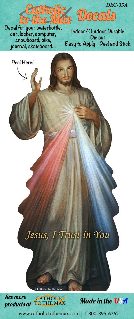DIVINE MERCY DECAL 6""