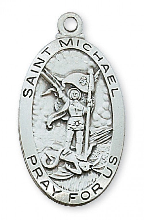 "SS ST MICHAEL MEDAL 24"" CHAIN"