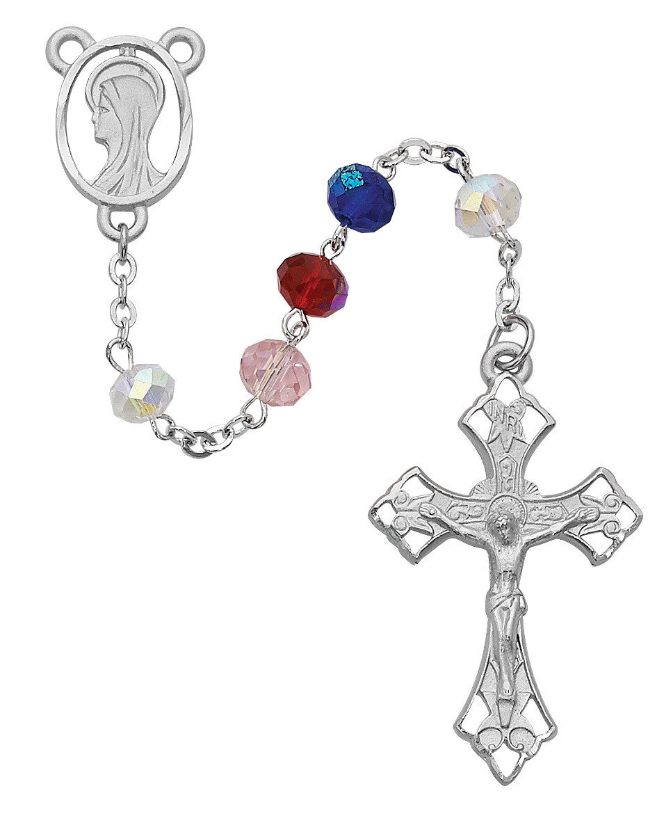 8MM MULTI COLOR ROSARY