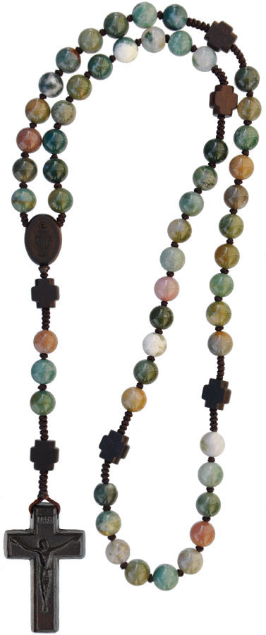 8MM MULTICOLOR ONYX GEM ROSARY