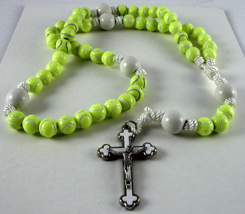 TENNIS BALL YELLOW ROSARY