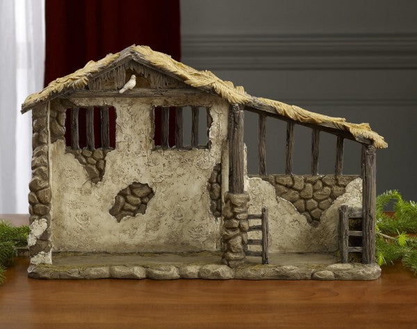 3KING LIGHTED STABLE NATIVITY