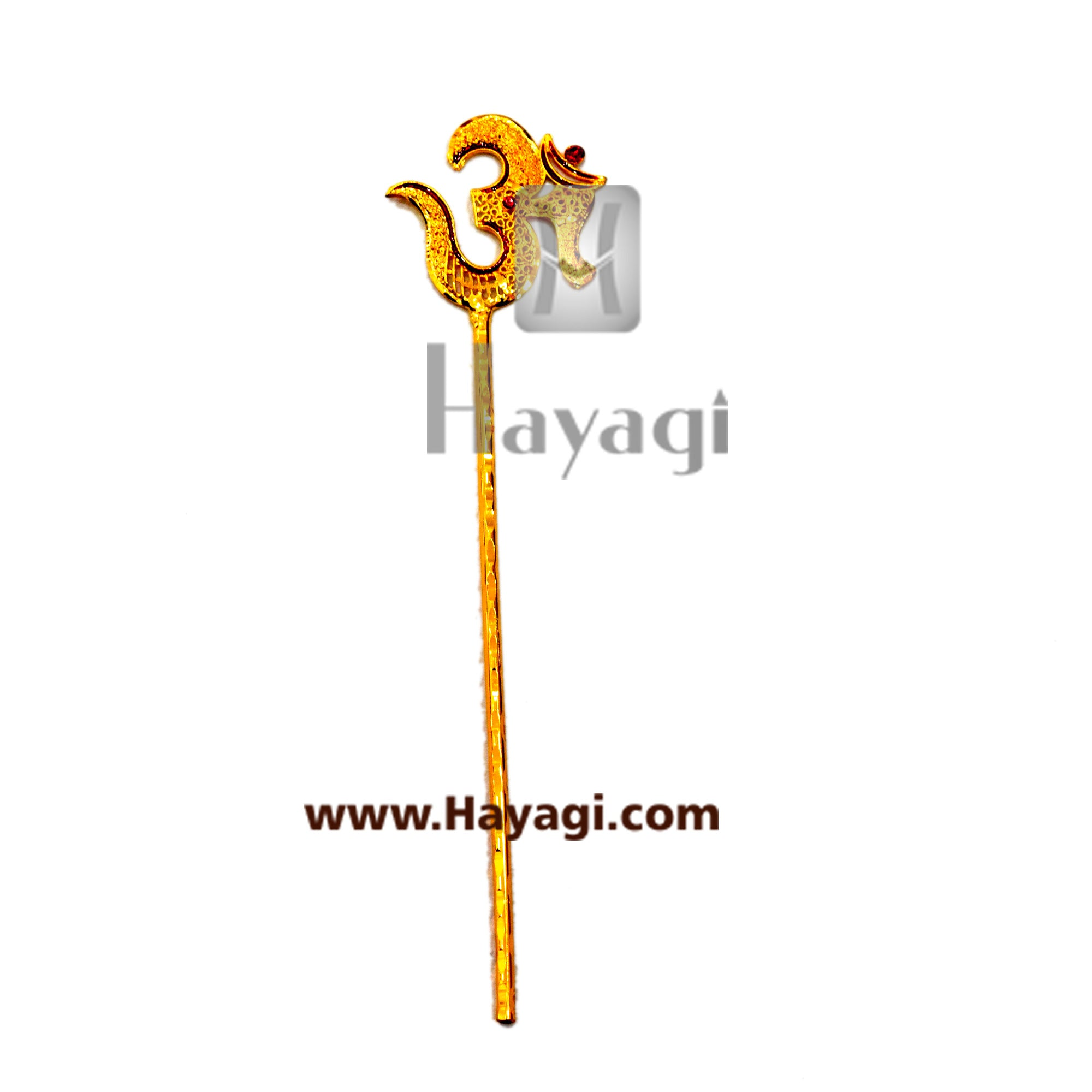 Om Trishul/Parshu Ideal for Ganesh and Gauri- Hayagi