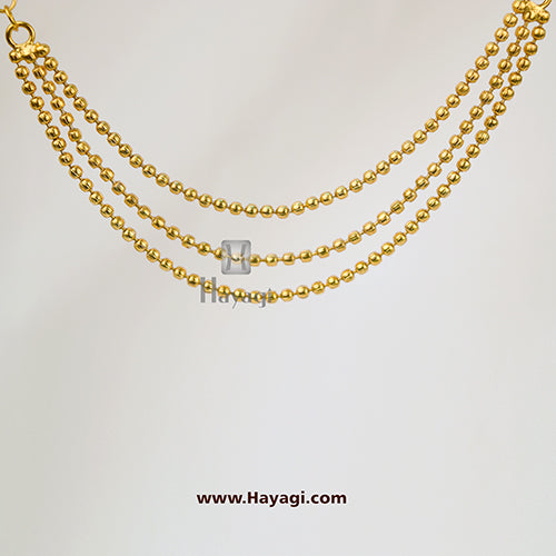 Kaan Chain, Jhumki Earrings Kaan Vel ,Golden Beads Vel Online- Hayagi