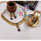 Combo Set, Laxmi Coin Necklace & Bangles Set_Hayagi(Pune)