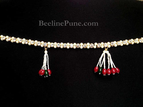 Buy Antique Waistbelt kamarband in Kundan Online 2 strings-Hayagi - Beeline  - 1