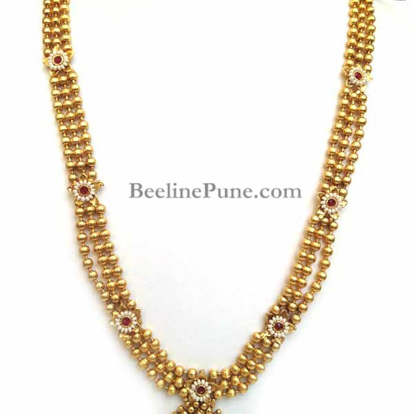 Long Bridal Kundan Necklace set Online - Hayagi - Beeline  - 2