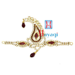 Dulha Kalangi Petals Design in Maroon Colour With White Stones