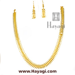 Bakuli Haar Golden Flower Short Necklace-Hayagi