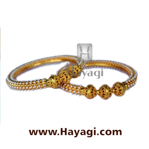 Bangle - Pearl Bangles Online Jewelry_Hayagi