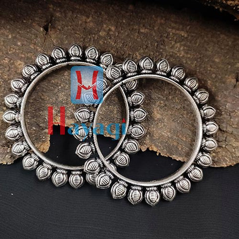Oxidized Kada Bangles Paan Design for Women_Hayagi(Pune)