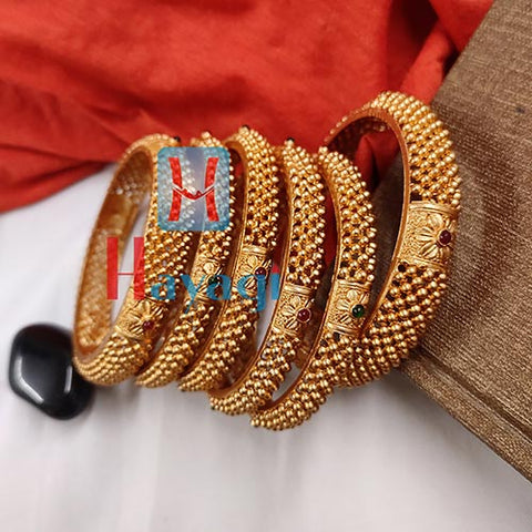 Matte Finish Bangles Set Of 6 For Bride_Hayagi Pune