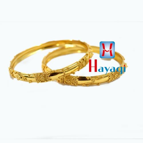 Bangles Set of 2 Gold Finish Kada_Hayagi(Pune)