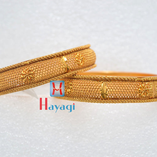 Bangles Matte Finish Flower Design - Hayagi(Pune)