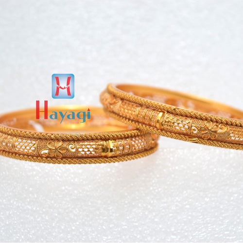Bangles Traditional Matte Finish Flower Design - Hayagi(Pune)