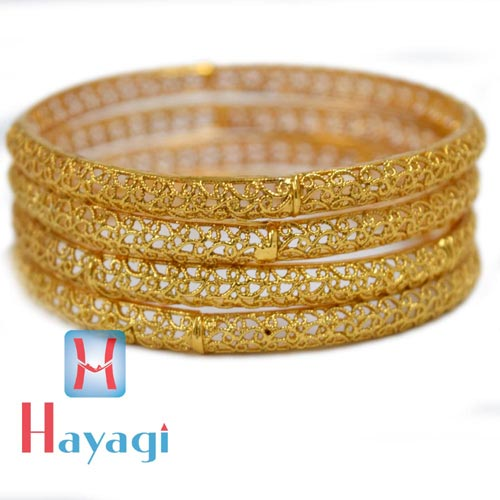 Gold Bangles Netted Antique Online India Pune_Hayagi