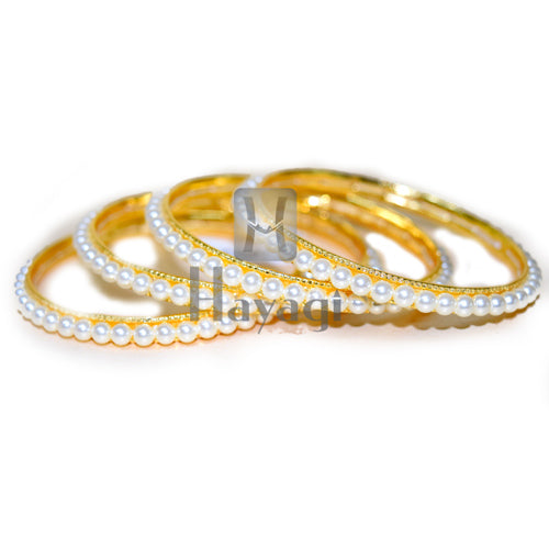 Natural Water Pearl Traditional Bangles Online Shopping_Hayagi