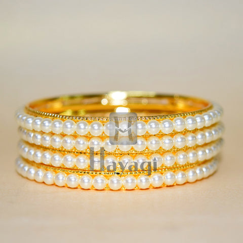 Natural Water Pearl Traditional Bangles Online Shopping - Hayagi
