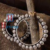 Kada Bangles Oxidized Silver Finish for Women_Hayagi(Pune)