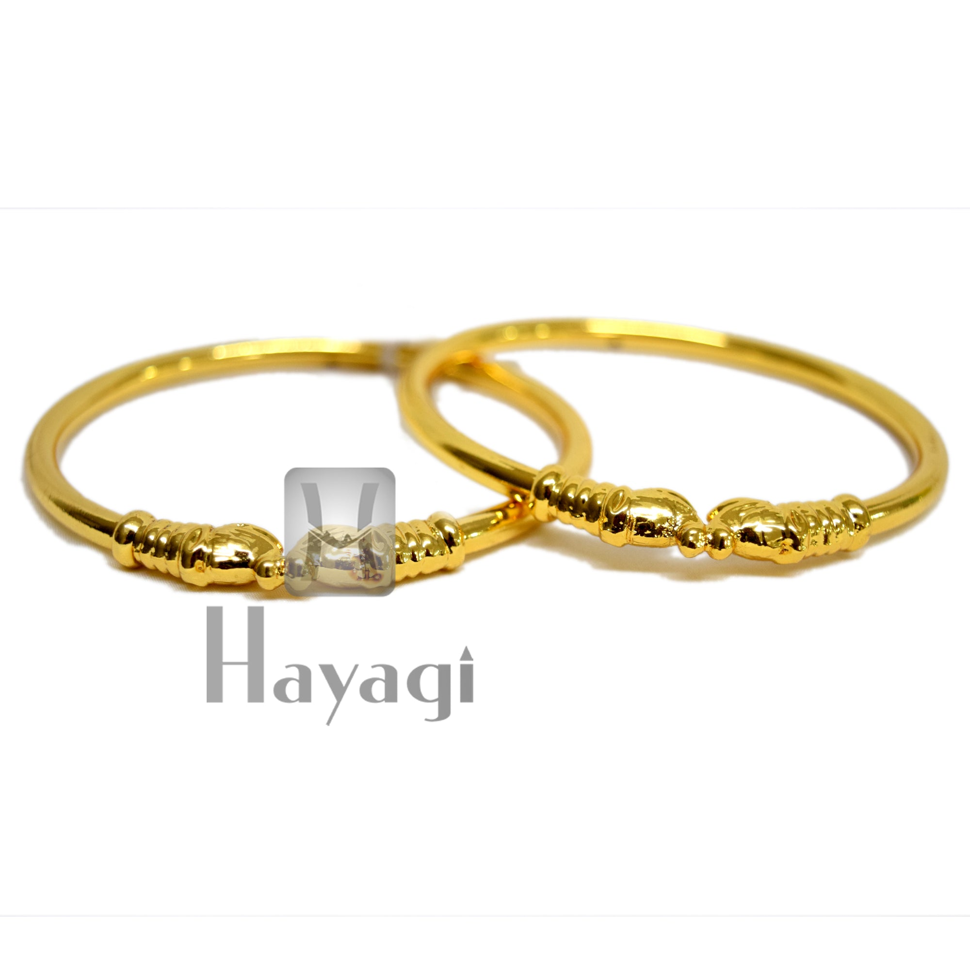 Hatti Kada Gold Finish of 2 Bangles Set Buy Online- Hayagi