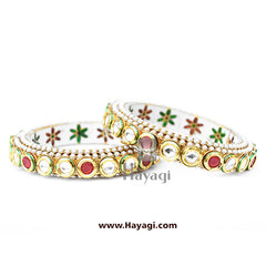 Bangles  in Kundan Online Shopping - Hayagi