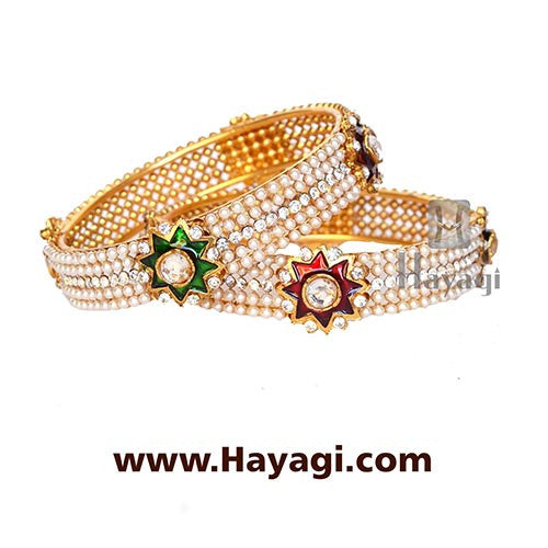 Bangle - Pearl Bangles Online Jewelry - Hayagi - Beeline  - 1