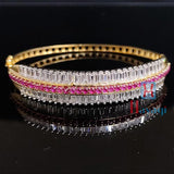 Party Wear Bracelet Collections Online CZ Gold Tone _Hayagi(Pune)