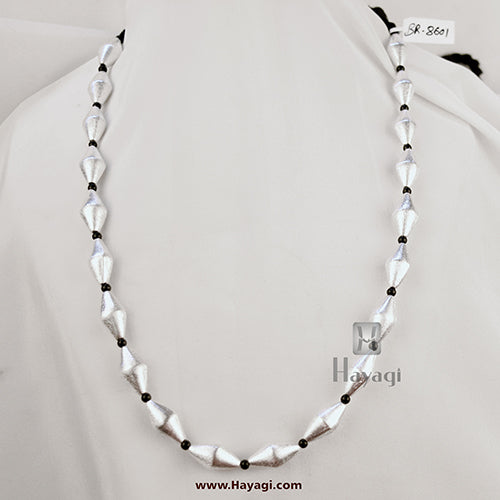 Silver Finish Bormala Ethnic Bormaal, Antique Look Necklace-Hayagi