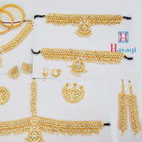 Bharatnatyam Jewellery Set In Gold Polish White Stone_Hayagi(Pune)