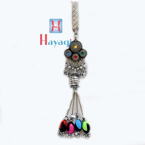 Silver Polish Challa Key fancy design Multicolour Bids_Hayagi(Pune)