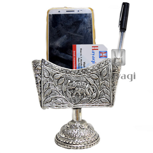 Visiting Card Holder In Silver Finish Buy Online - Hayagi