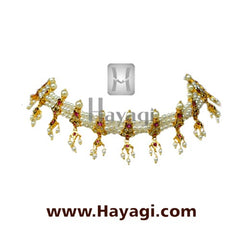 Kolhapuri Pearl Chinchpeti Necklace Online Shopping-Hayagi