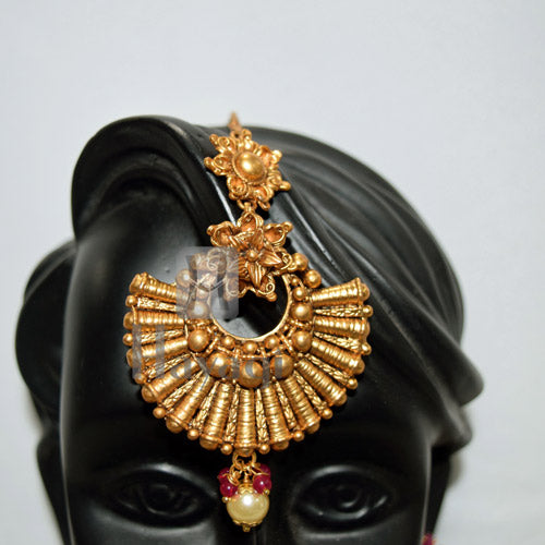 Gold Plated Bollywood Style Bridal Choker Set Online_Hayagi