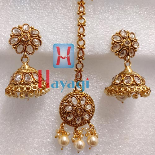 Choker, Bridal Set Antique Finish Pearl Trendy Design _Hayagi(Pune)