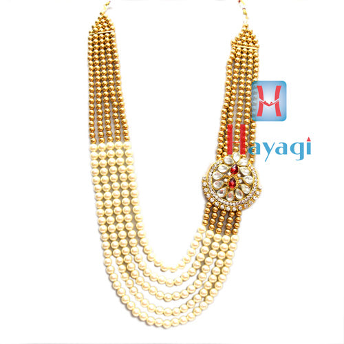 Brown & White Pearl Groom/Dulha Haar Necklace Online_Hayagi