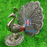 Dancing Peacock Statue For Home Decore/Gifting Silver Finish- Hayagi