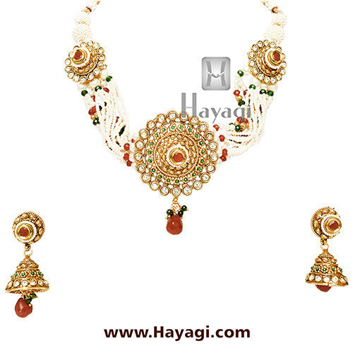 Pearl Choker Necklace Online Shopping India-Hayagi