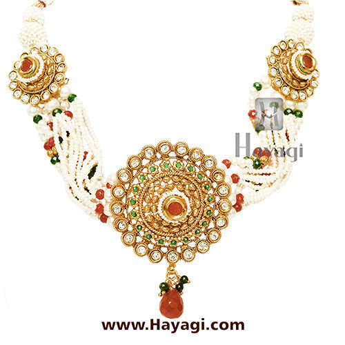 Pearl Choker Necklace Online Shopping India_Hayagi