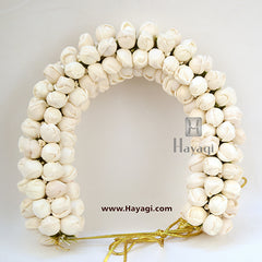 Hair Bun White Flower Decoration For Women Online-Hayagi