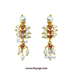 Kolhapuri Chinchpeti Tops Earrings Buy Online - Hayagi