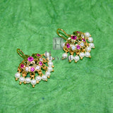 Pretty Bugadi AD Ruby Bugdi Stud Tops Earrings_Hayagi(Pune)