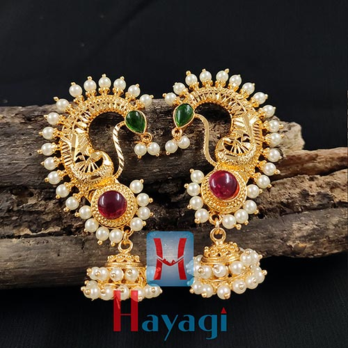 Ear Cuffs Traditional Gold Finish Design Hayagi