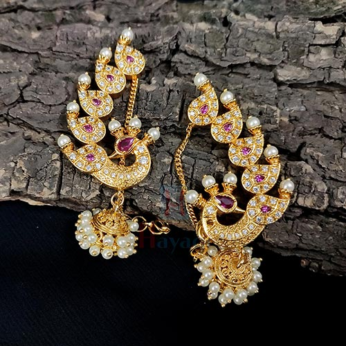 AD Studds Decorated Peacock Design Ear Cuff_Hayagi(Pune)