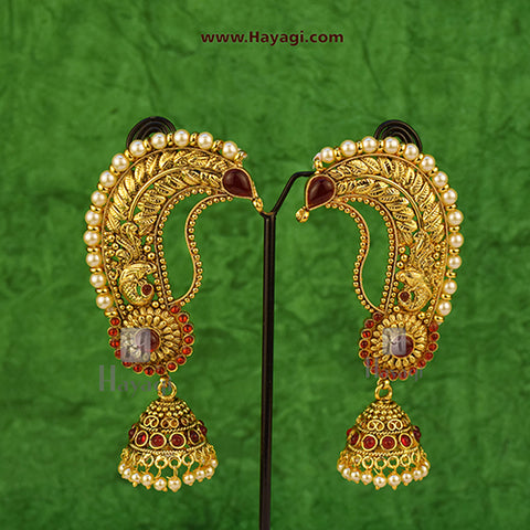 Ear Cuffs Gold Ear Cuffs for Beautiful Bride Buy Online - Hayagi