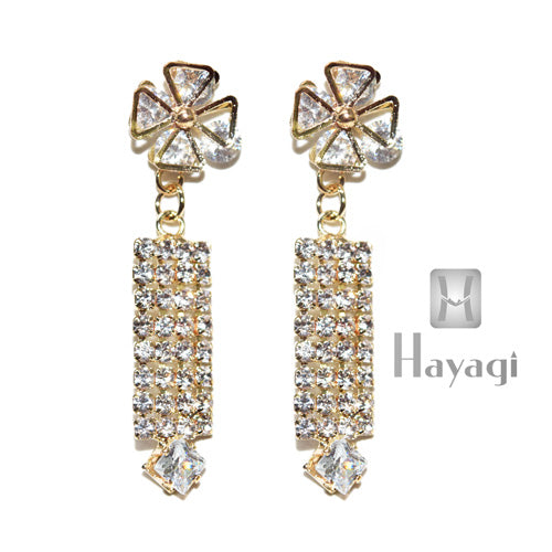 Bollywood Diamond Studded Earrings Danglers Buy Online_Hayagi