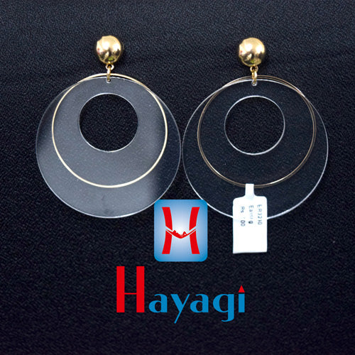 Transparent Designer Circle Shape Earring _ Online Hayagi(Pune)